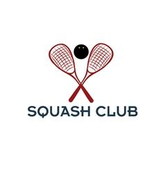 Squash club vector