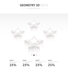 Star icons infographic template star vector