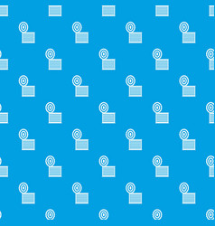 Tincan pattern seamless blue vector