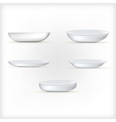 white dishes vector image