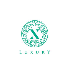 x letter logo luxurybeauty cosmetics logo vector image vector image
