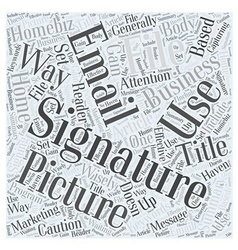 Signature files word cloud concept vector
