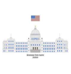 Mississippi state capitol vector