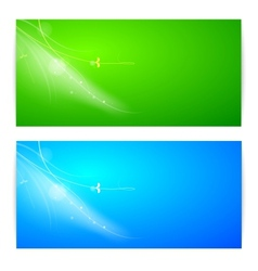 Abstract lights banner set vector
