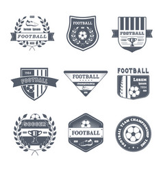 Game of football - vintage set of logos vector