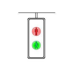 crosswalk sign vector image