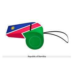 A whistle of the republic of namibia vector