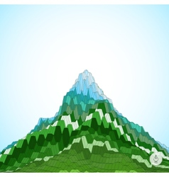 Abstract background with mountain mosaic 3d vector