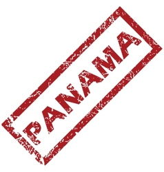 New panama rubber stamp vector