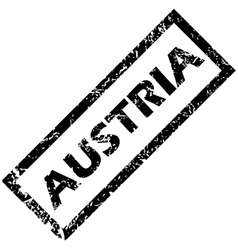 Austria rubber stamp vector