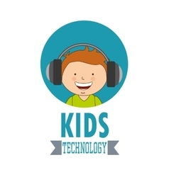 Technological kids vector