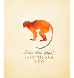 Happy new year 2016 background with a monkey made vector