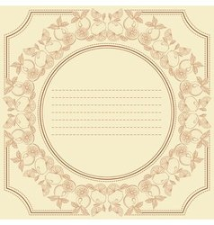 Vintage frame card with citrus fruits vector