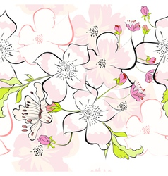 spring seamless wallpaper vector image