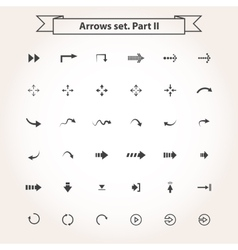 Big set arrows vector