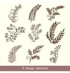 Set of Hand Drawn Doodle Design Elements vector image