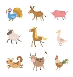 Farm Animals Collection vector image
