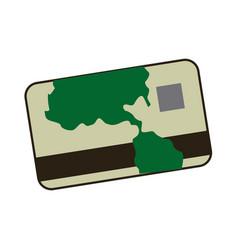 Cartoon credit card banking finance image vector