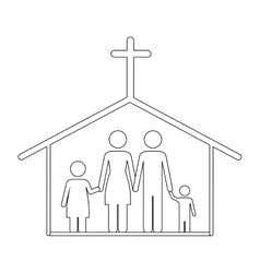 Catholic family icon image vector