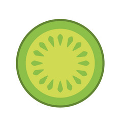 cucumber slice isolated icon vector image