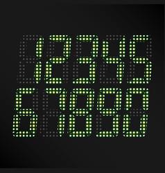 Digital glowing numbers set of digital vector