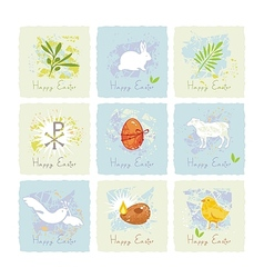 Easter Symbols Set vector image