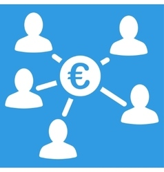 Euro Client Payments Icon vector image