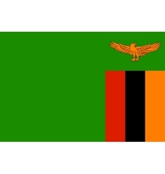 Flag of Zambia in correct size and colors vector image vector image