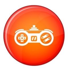 Gamepad icon flat style vector