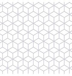 Gray white minimal cubes seamless pattern vector image