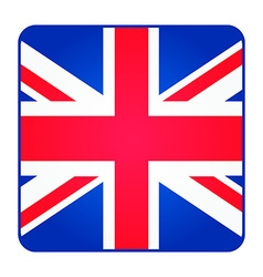 Great britain united kingdom flag square shape vector