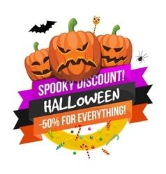 Halloween sale logo or label vector