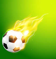 illlustration of burning football vector image