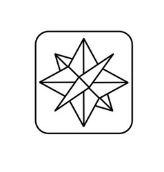 line compass symbol to geography adventure vector image