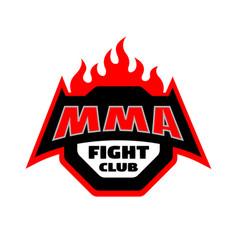 Mma fight club logo vector