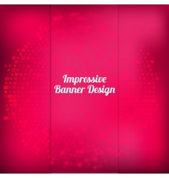 pink banner design with halftone effect vector image