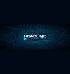 Sci-fi abstract geometric waves tech banner vector