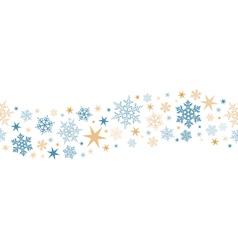 Seamless snowflake star border vector image vector image