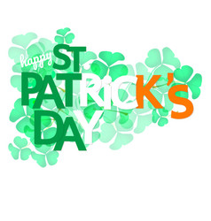 Shamrock leaves with greeting word vector