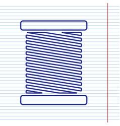 Thread sign navy line icon vector