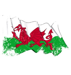 Wales flag grunge vector