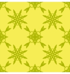 Yellow ornamental seamless pattern vector