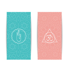 yoga class and studio template banner vector image