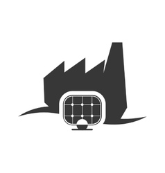 Solar panel ecology silhouette design vector