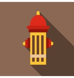 Fire hydrant icon flat style vector
