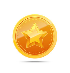3d gold medal winner award icon vector