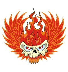 Fire skull vector