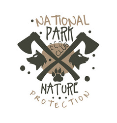 National park nature protection design template vector