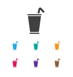 of food symbol on milkshake vector image