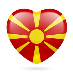Heart icon of macedonia vector
